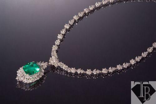 祖母綠鑽石墜-0002